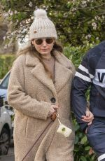 KELLY BROOK and Jeremy Parisi Out with Their Dog in London 12/01/2020