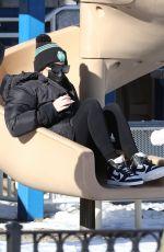KHLOE KARDASHIAN at a Park in Boston 12/23/2020