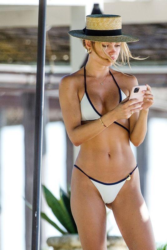 KIMBERLEY GARNER in Bikini at a Beach in Barbados 12/27/2020