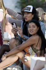 KIMORA and MING LEE SIMMONS at a Beach in St Barths 12/24/2020