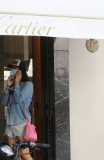 KIMORA LEE SIMMONS Out Shopping at Cartier in St. Barth 12/28/2020