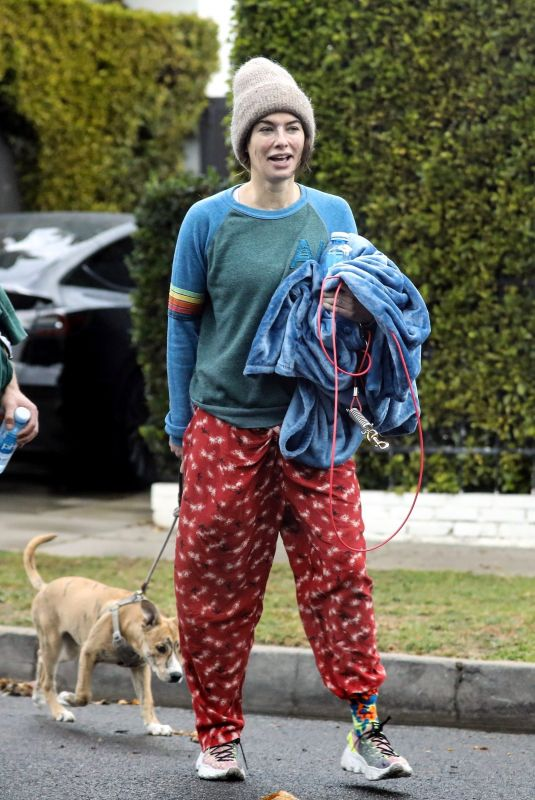 LENA HEADEY Leaves a Private Gym in West Hollywood 12/28/2020