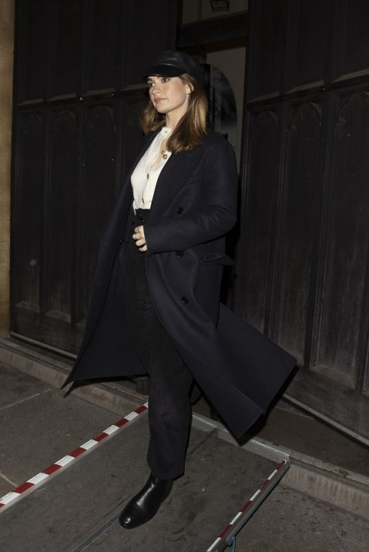LILY JAMES Leaves St Lukes Church in Chelsea 12/02/2020