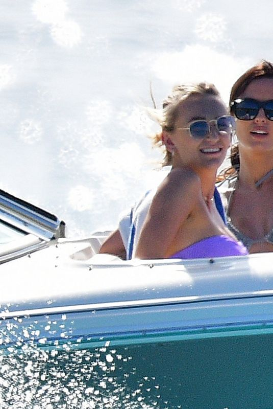 LUCY and TIFFANY WATSON at a Boat in Barbados 12/26/2020