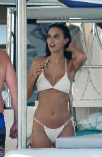 LUCY WATSON in Bikini at a Boat in Barbados 12/30/2020