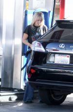 MALIN AKERMAN at a Gas Station in Los Feliz 12/20/2020