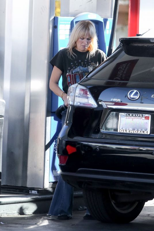 MALIN AKERMAN at a Gas Station in Los Feliz 12/20/2020