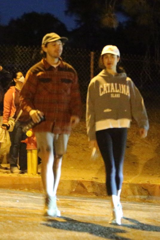 MARGARET QUALLEY and Shia LaBeouf Out Hiking in Pasadena 12/22/2020