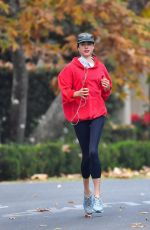 MARGARET QUALLEY and Shia LaBeouf Out Jogging in Pasadena 12/29/2020