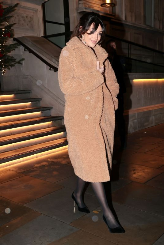 MICHELLE KEEGAN Leaves Corinthia Hotel in London 12/15/2020
