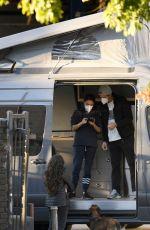 MILA KUNIS and Ashton Kutcher Pick up Their Luxury Camper Van in Los Angeles 12/16/2020