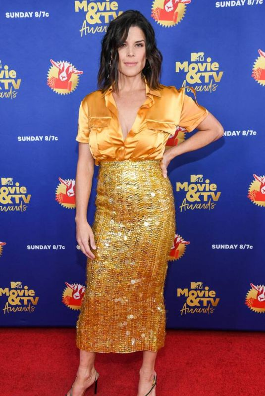 NEVE CAMPBELL at 2020 MTV Movie & TV Awards in Los Angeles 12/06/2020
