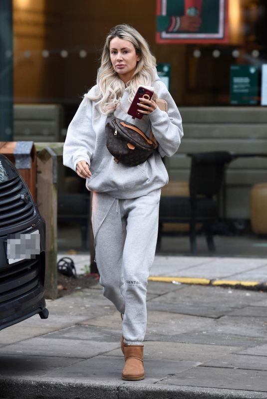 OLIVIA ATTWOOD Leaves Starbucks in Manchester 12/01/2020