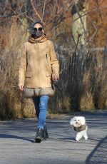 OLIVIA PALERMO Out with Her Dog Mr. Butler in New York 12/28/2020