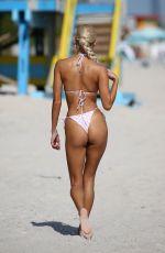 PIA MIA PEREZ in a White Bikini at a Beach in Miami 12/07/2020