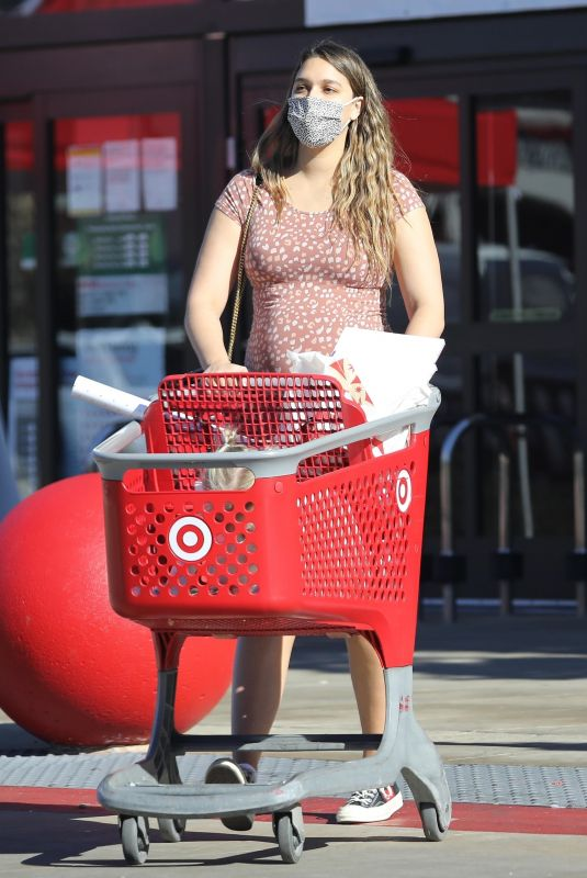 Pregnant APRIL LOVE GEARY Shopping at Target in Los Angeles 12/04/2020