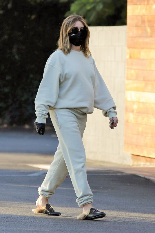 Pregnant ASHLEY TISDALE Out for Coffee in Los Feliz 12/10/2020