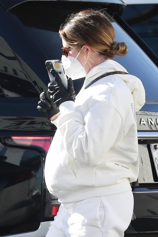 Pregnant ASHLEY TISDALE Out Shopping in Van Nuys 12/21/2020