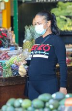 Pregnant CHRISTINA MILIAN Out Shopping in West Hollywood 12/18/2020