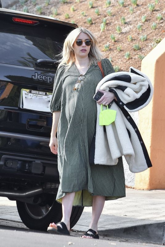Pregnant EMMA ROBERTS Heading to an Appointment in Los Angeles 12/11/2020