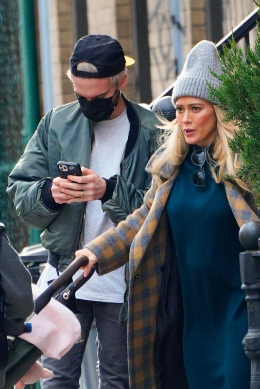 Pregnant HILARY DUFF and Matthew Koma Out in New York 11/28/2020
