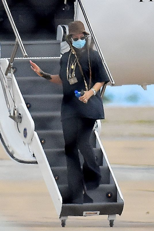 RIHANNA Arrives in Barbados 12/16/2020