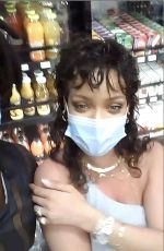 RIHANNA Wearing a Face Mask at Gas Station in Barbados 12/20/2020