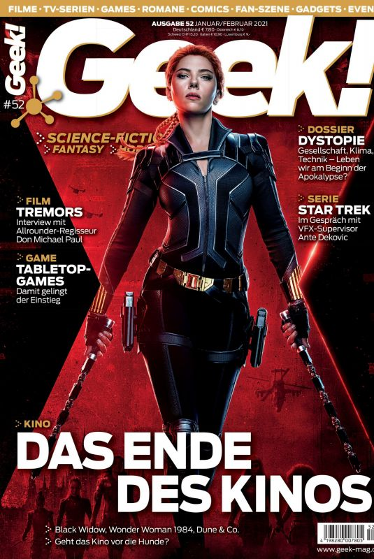 SCARLETT JOHANSSON in Geek! Magazine, January/February 2021