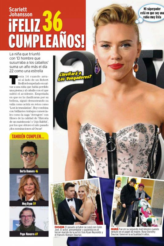 SCARLETT JOHANSSON in Qmd! Magazine, Spain November 2020