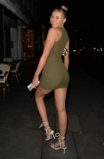 SIAN OWEN in a Tight Dress Night Out in London 12/15/2020