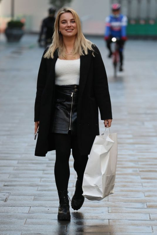 SIAN WELBY Arrives at Global Offices in London 12/01/2020
