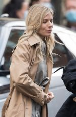 SIENNA MILLER on the Set of Anatomy of a Scandal in London 12/06/2020