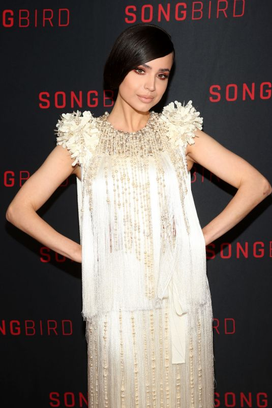 SOFIA CARSON Celebrates Release of Her New Movie Songbird in Beverly Hills 12/11/2020