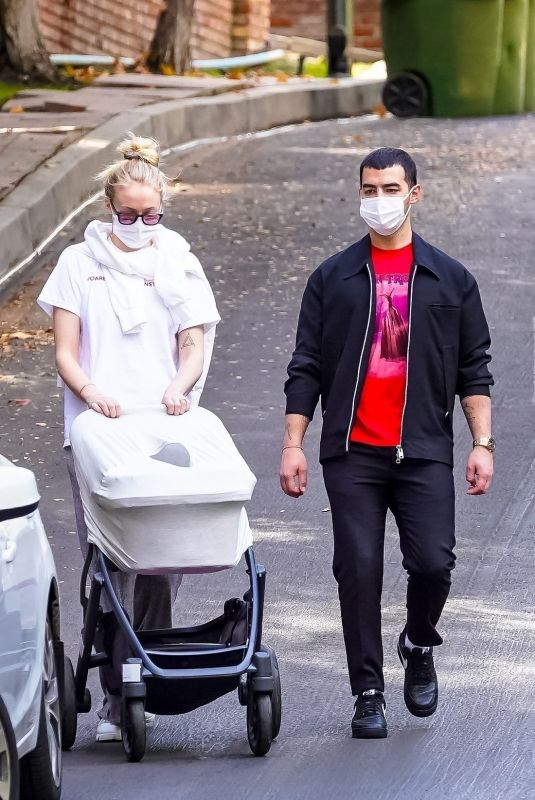 SOPHIE TURNER and Joe Jonas Out with Their Daughter in Los Angeles 12/08/2020