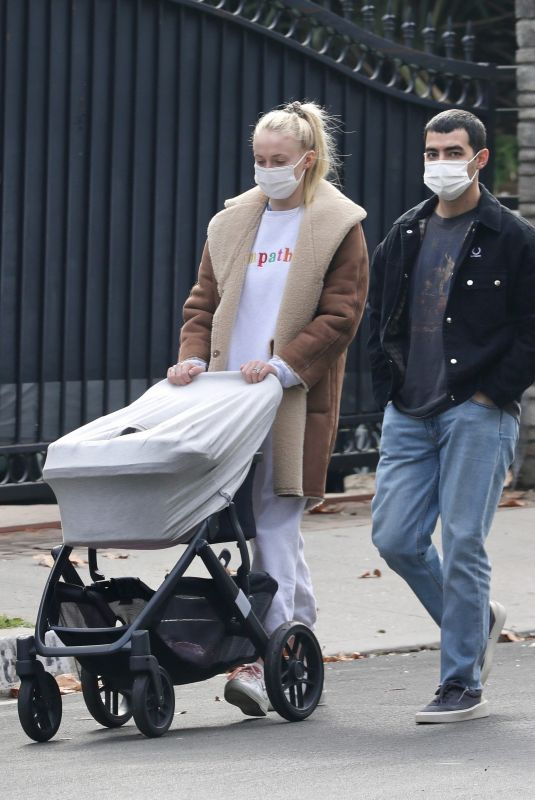 SOPHIE TURNER and Joe Jonas Out with Their Daughter in Los Angeles 12/11/2020