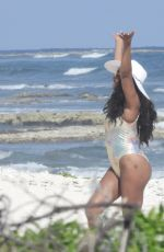 VIVICA FOX in Swimsuit at a Beach in Tulum 12/21/2020
