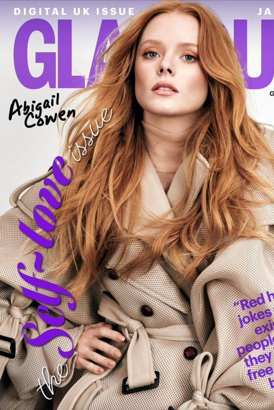 ABIGAIL COWEN on the Cover of Glamour Magazine, UK January 2021