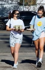 ADDISON RAE and TESSA BROOKS Out for Coffee in Los Angeles 01/11/2021