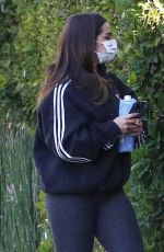 ADDISON RAE Arrives at Workout in Los Angeles 01/25/2021