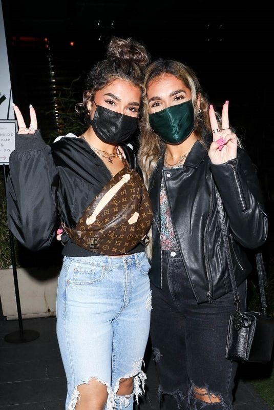 AISHA and AZRA MIAN at BOA Steakhouse in West Hollywood 01/30/2021