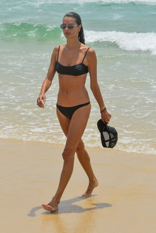 ALESSANDRA AMBROSIO in Bikini at a Beach in Florianopolis 01/12/2021