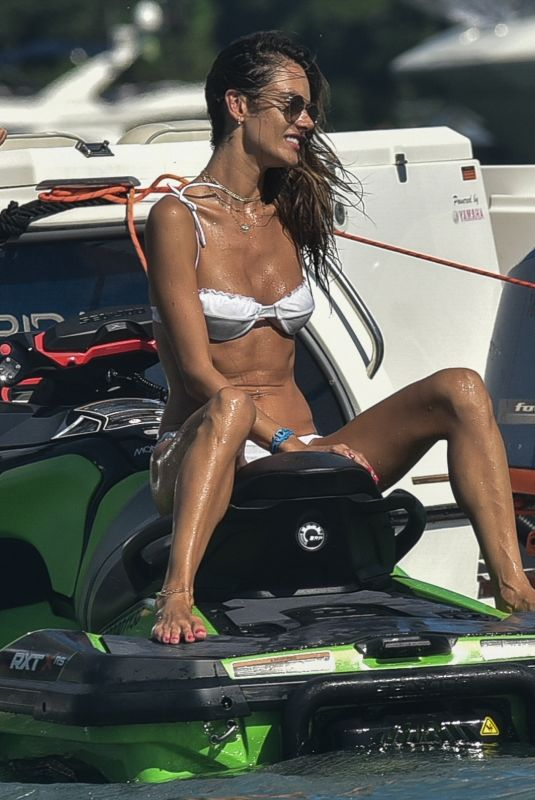 ALESSANDRA AMBROSIO in Bikini on a Jet Ski in Florianopolis 01/19/2021