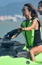 ALESSANDRA AMBROSIO in Bikini on a Jet Ski in Florianopolis 01/19/2021