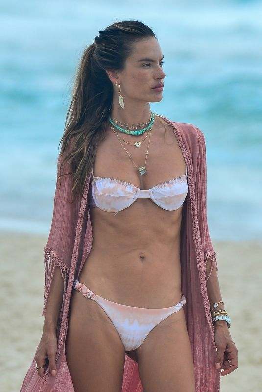 ALESSANDRA AMBROSIO in Bikini on the Beach in Florianopolis 01/08/2021