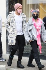 ALEXA BLISS and Ryan Cabrera Shopping on Rodeo Drive in Beverly Hills 01/23/2021