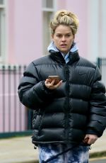 ALICE EVE Out with Her Dog in London 01/21/2021