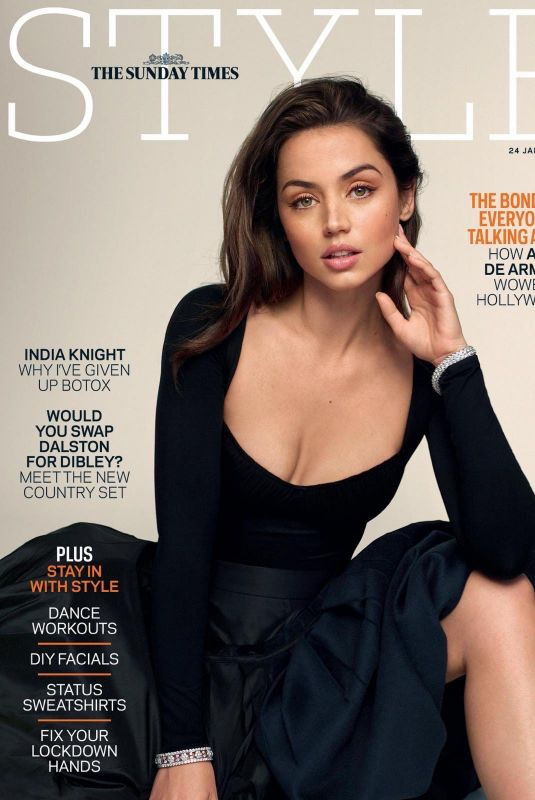 ANA DE ARMAS on the Cover of The Sunday Times Style Magazine, January 2021