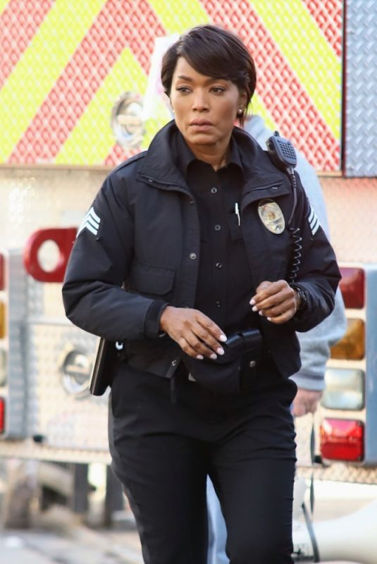 ANGELA BASSETT on the Set of Rescue 9-1-1 in Los Angeles 01/26/2021