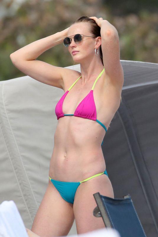 ANNE VYALITSYNA in Bikini at a Beach in Miami 01/02/2021