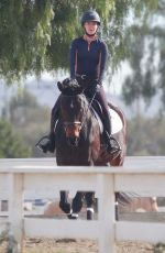 ARIANA MADIX Out Rides Her Horse in Agoura Hills 01/16/2021